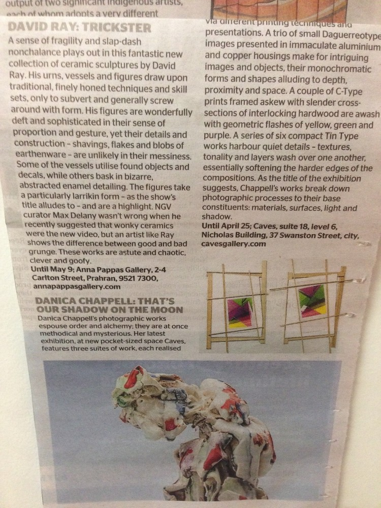 Review in The Age newspaper